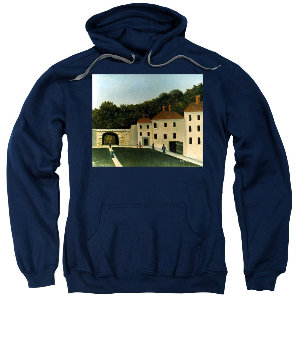 1907 Sweatshirt featuring the photograph Rousseau:promenaders,c1907 by Granger