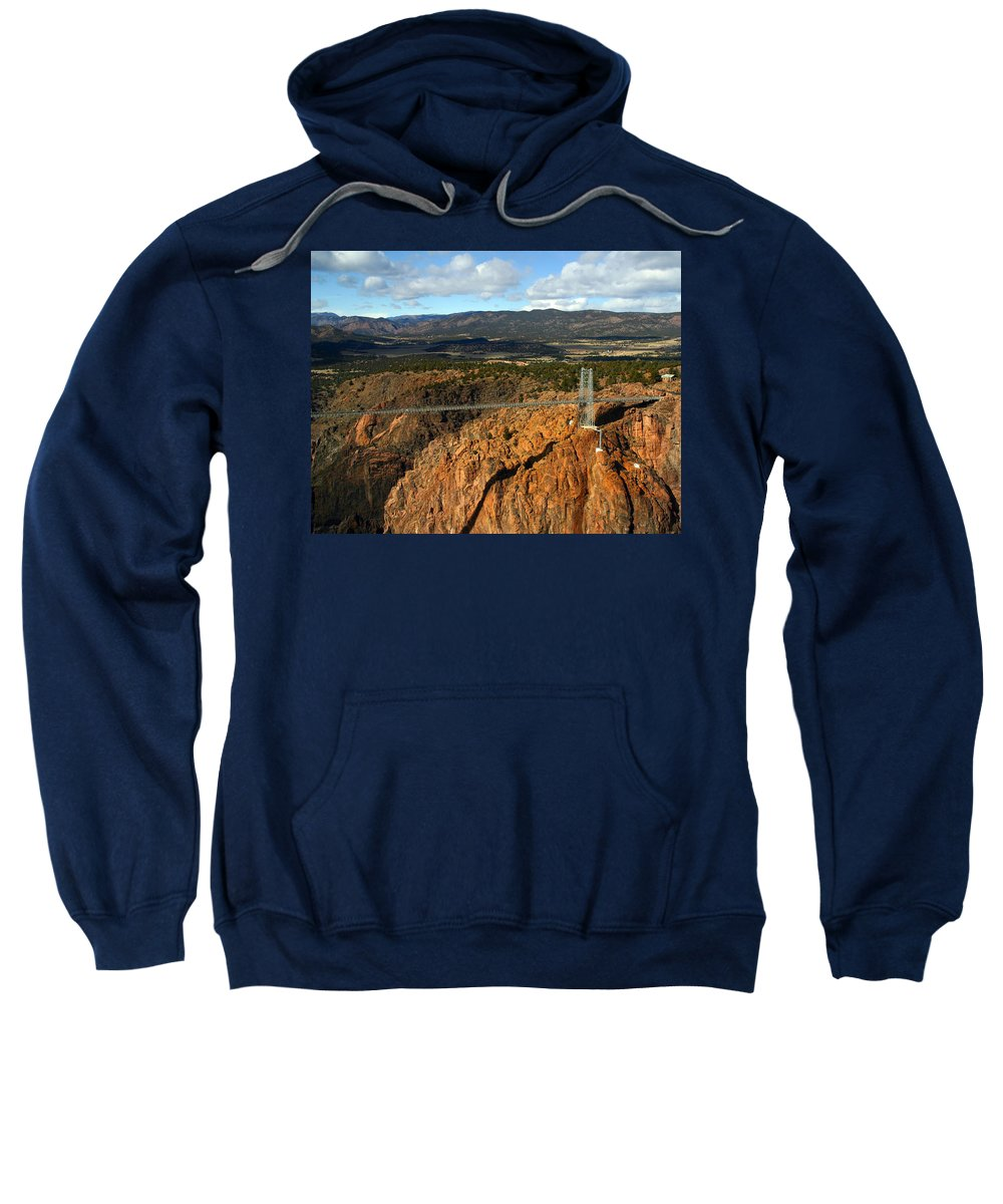 Royal Gorge Sweatshirt featuring the photograph Royal Gorge by Anthony Jones