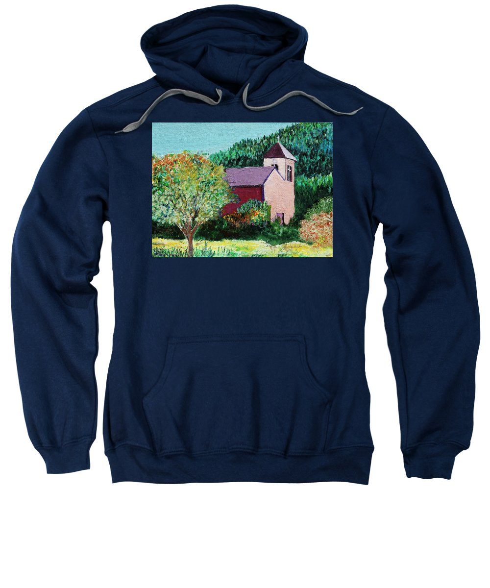 Church Sweatshirt featuring the painting Ruidoso by Melinda Etzold