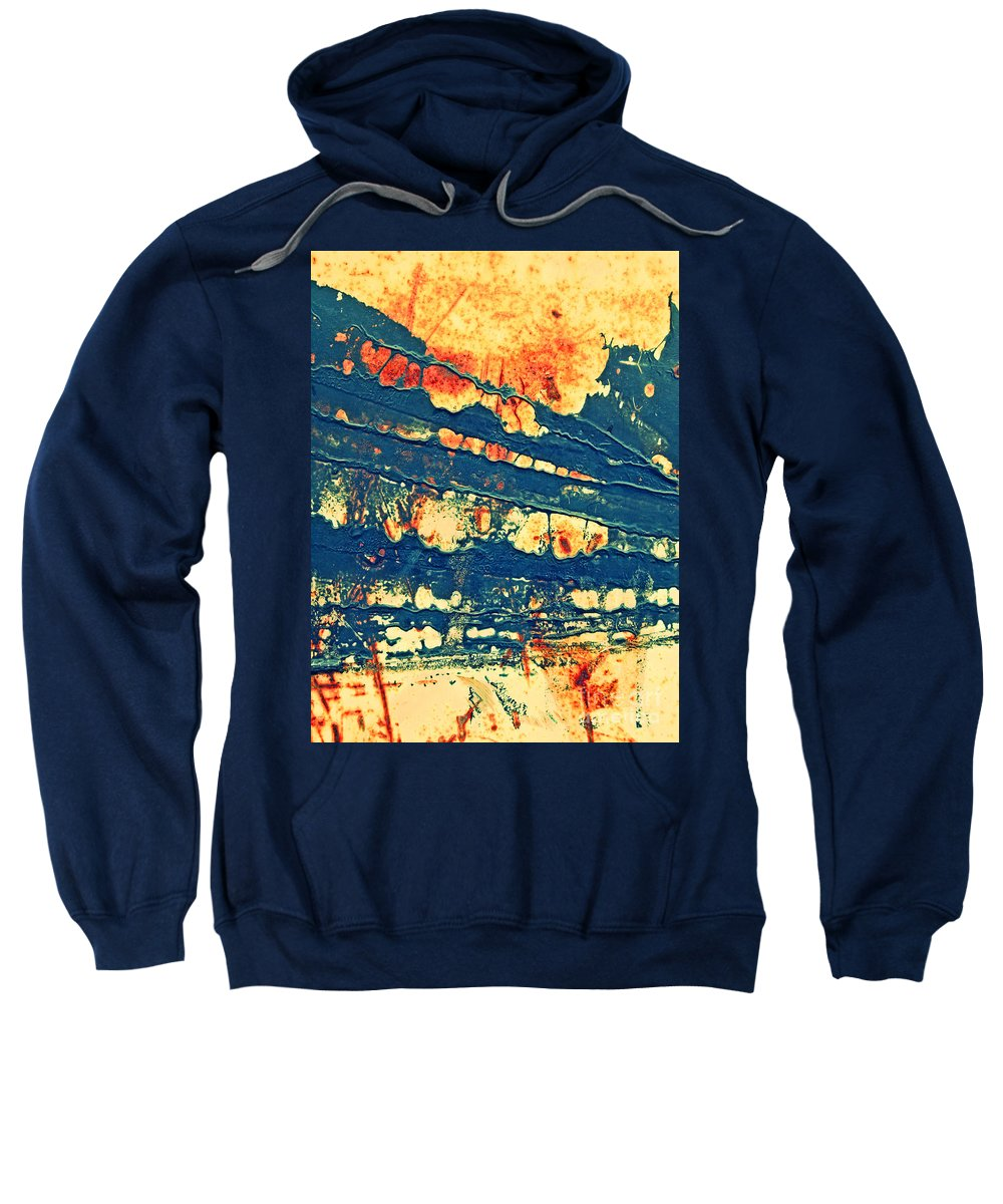 Macro Sweatshirt featuring the photograph Rust And Lace by Tara Turner