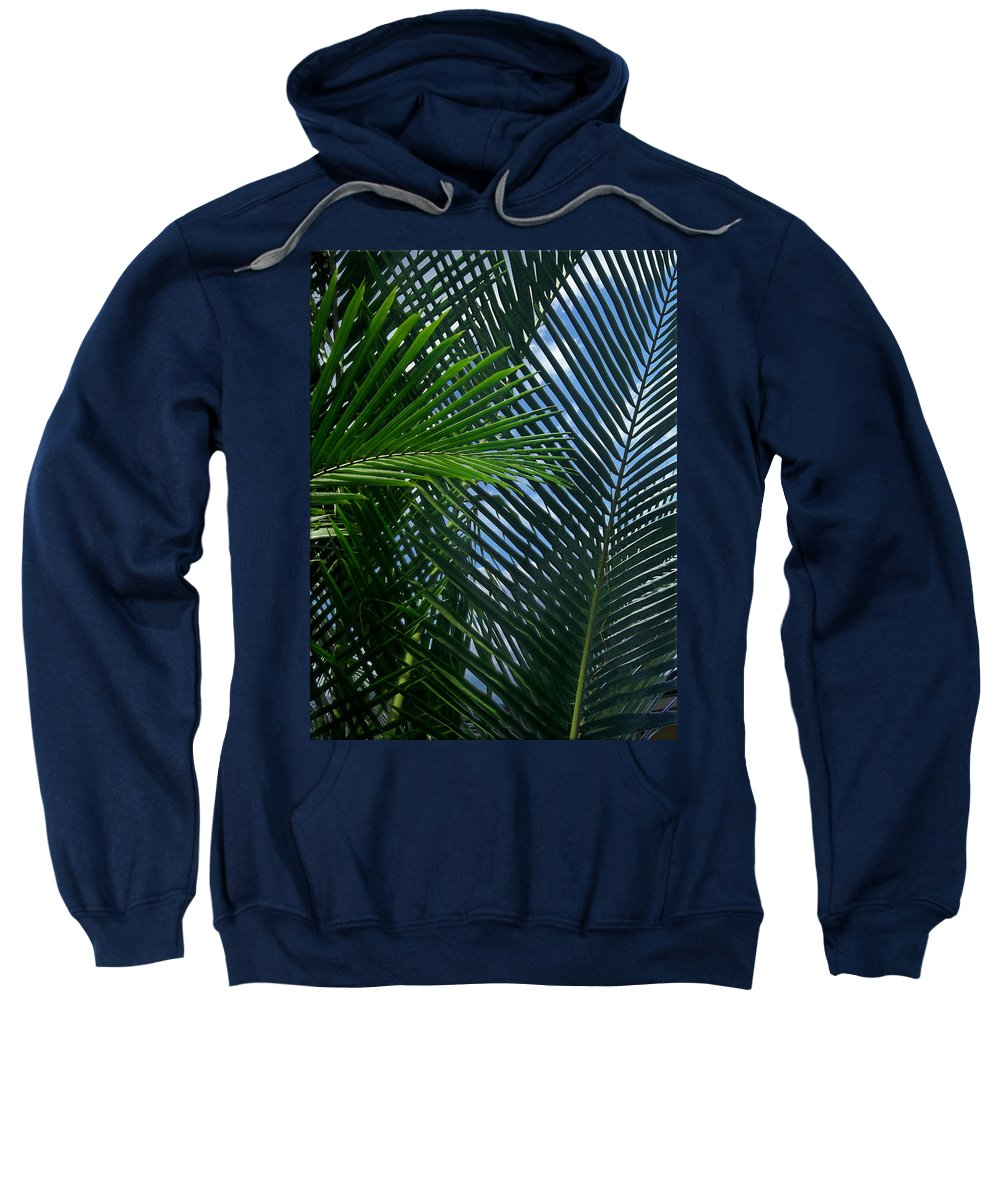 Indonesia Sweatshirt featuring the photograph Sago Palm Fronds by Mark Sellers