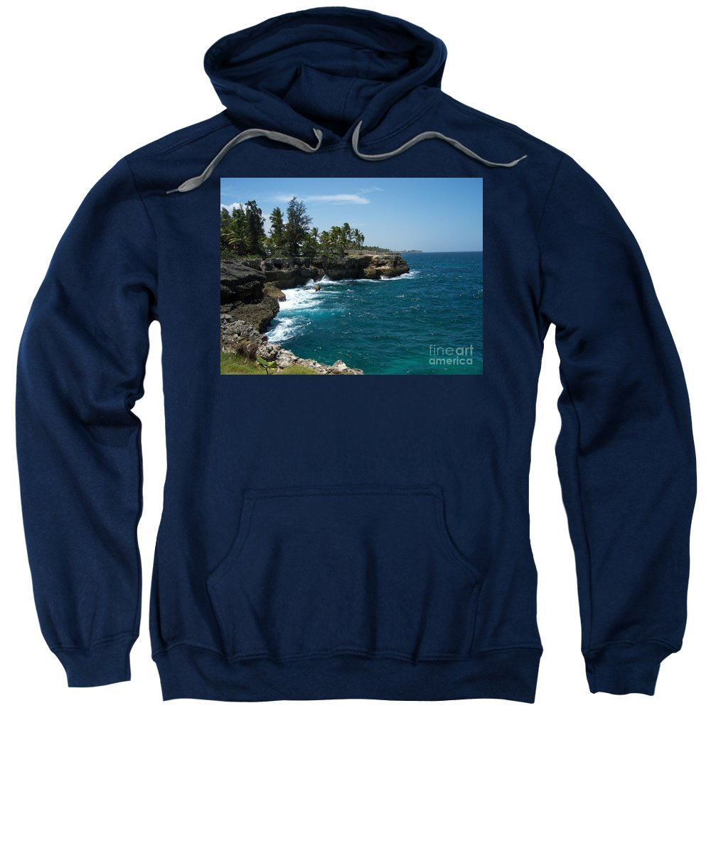 Santo Domingo Sweatshirt featuring the photograph Santo Domingo Coastal View. by Heather Kirk