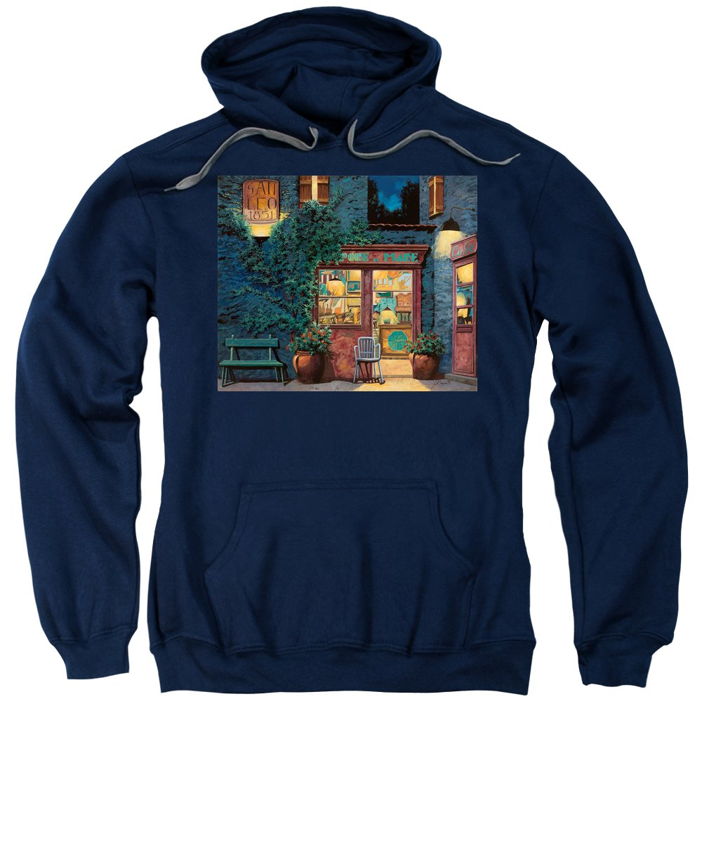 Courtyard Sweatshirt featuring the painting Sapore Di Mare by Guido Borelli