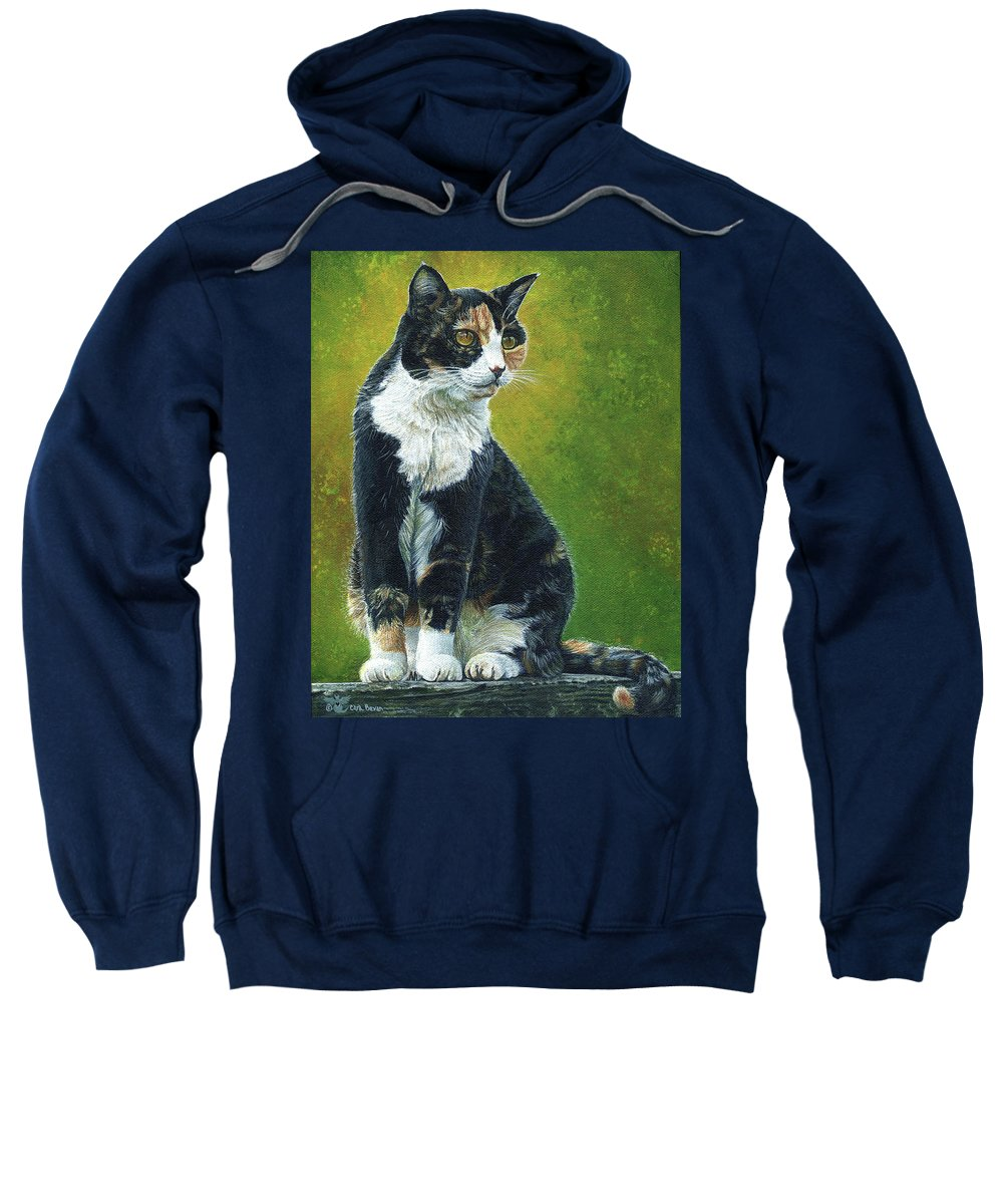 Sassy Sweatshirt featuring the painting Sassy by Cara Bevan