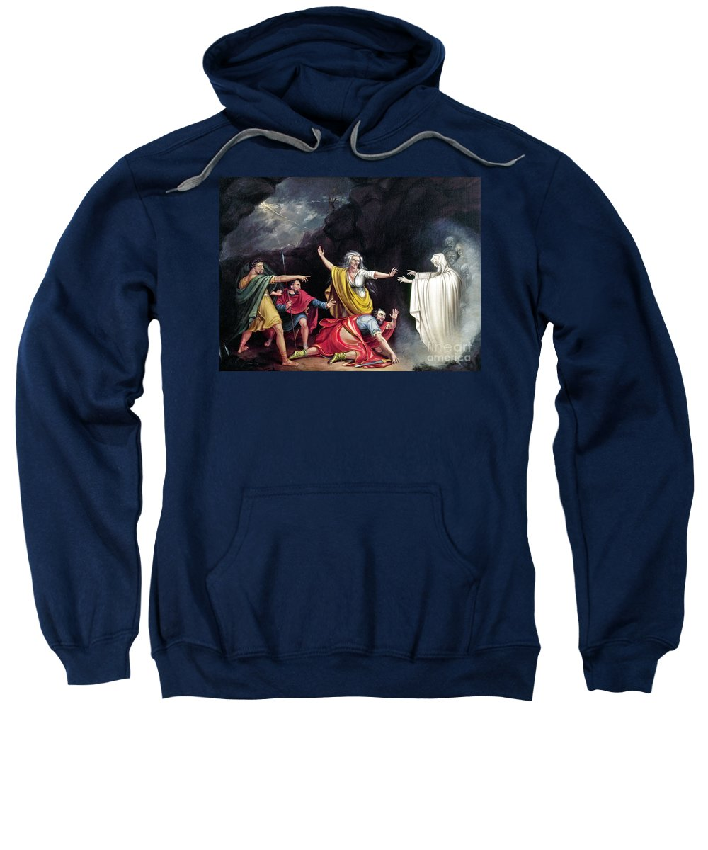 1828 Sweatshirt featuring the photograph Saul & Witch Of Endor by Granger