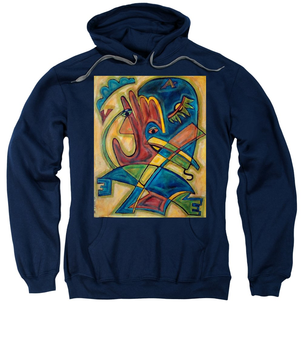 Christian Sweatshirt featuring the painting Save by W Todd Durrance