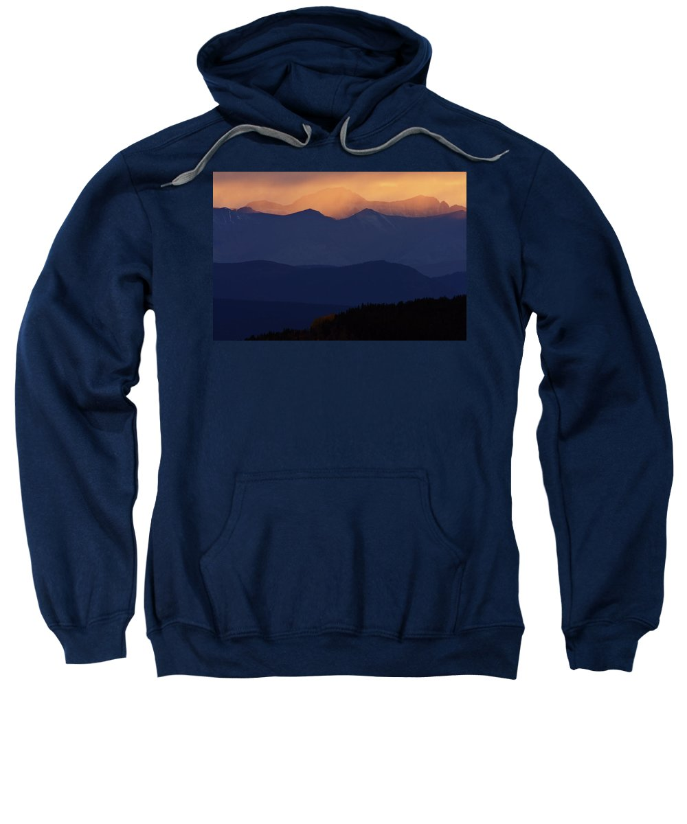 Mountains Sweatshirt featuring the digital art Scenic Northern Rockies Of British Columbia by Mark Duffy