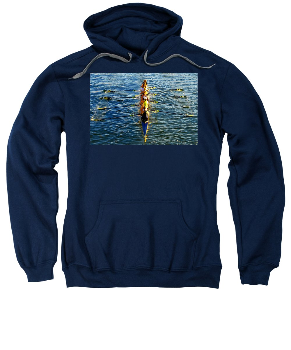 Females Sweatshirt featuring the photograph Sculling Women by David Lee Thompson