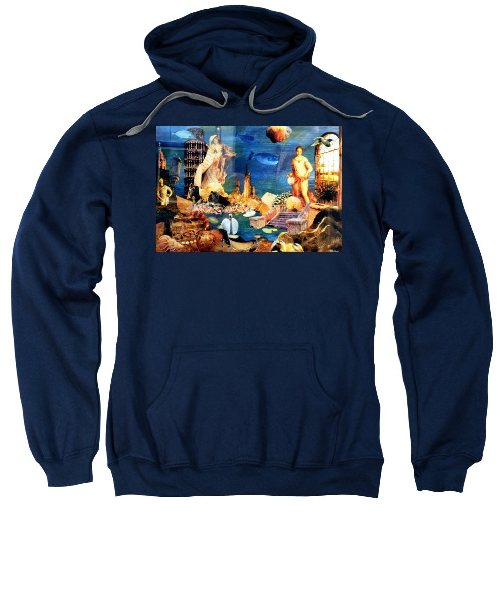 Fantasy Sweatshirt featuring the painting Sea Garden by Gail Kirtz