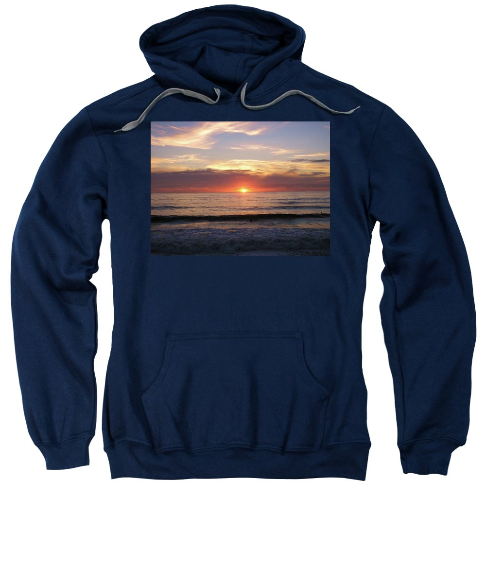 Strandhill Sweatshirt featuring the photograph Seascape by Louise Macarthur Art and Photography