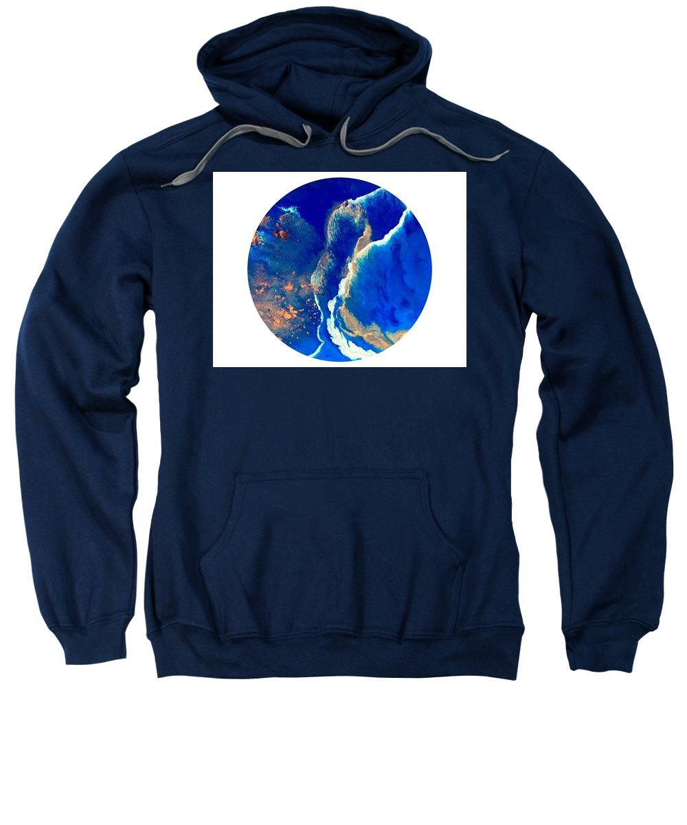 Seascape Sweatshirt featuring the painting Seascape by Susan Fuss
