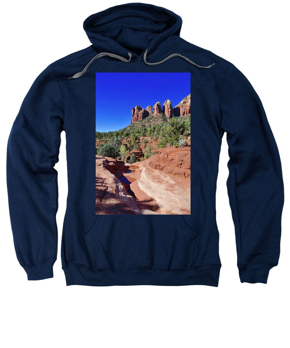 Seven Pools Sweatshirt featuring the photograph Seven Pools by Barbara Stellwagen