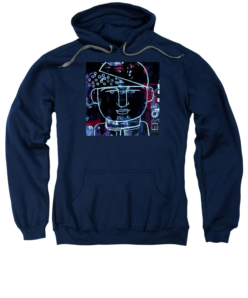 Faces Sweatshirt featuring the painting Sexy Successful And Open Minded by Robert R Splashy Art Abstract Paintings