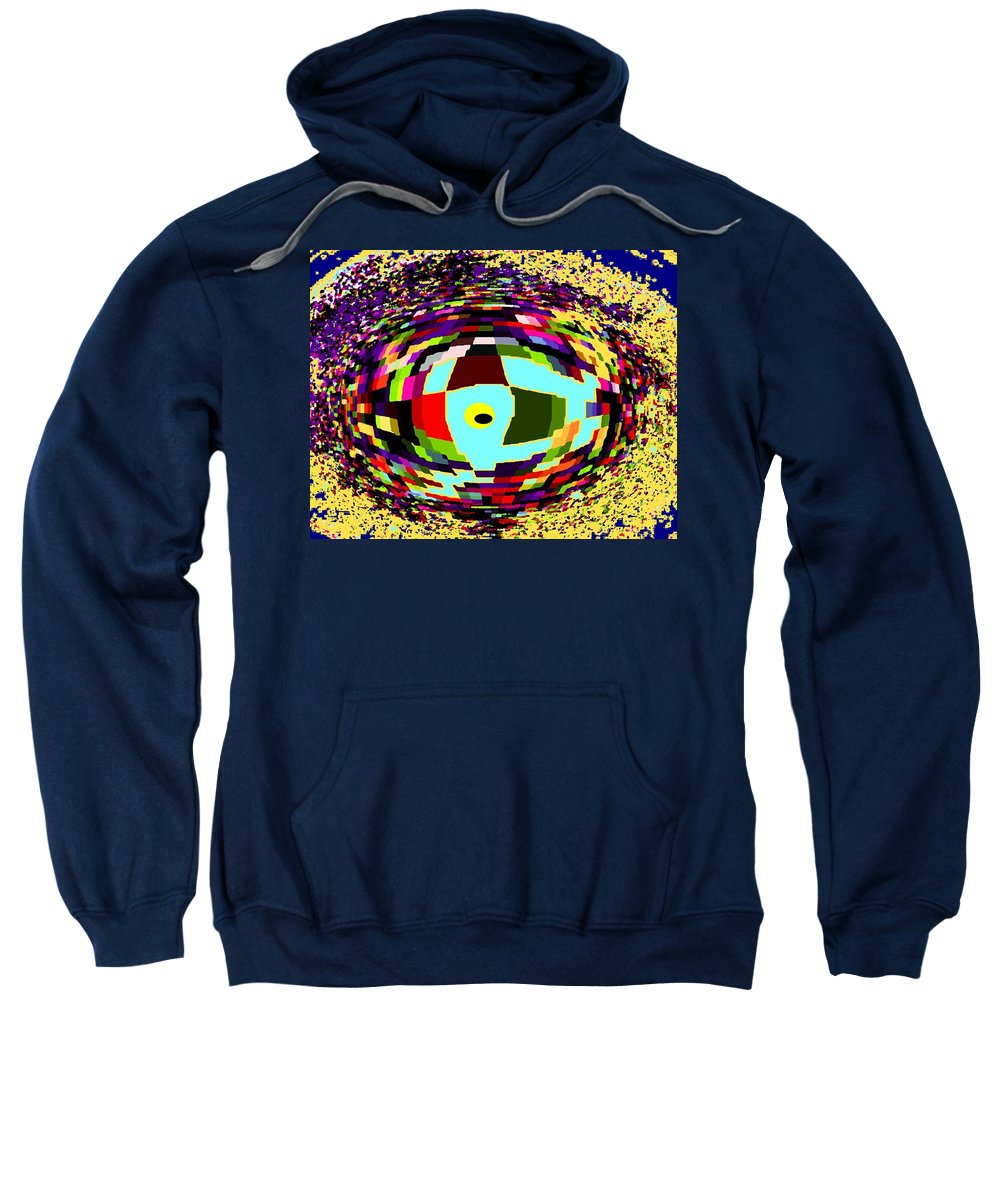 Abstract Sweatshirt featuring the digital art Shattered by Ian MacDonald