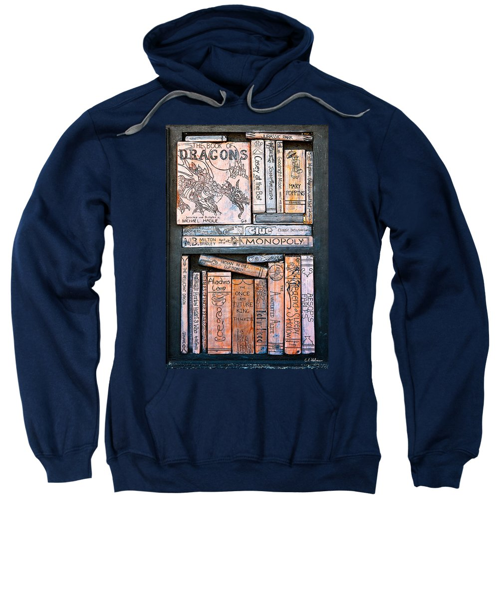 Books Sweatshirt featuring the photograph Shelved - 4 by Christopher Holmes