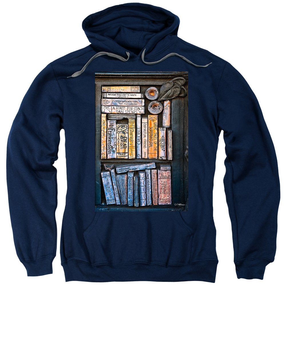 Books Sweatshirt featuring the photograph Shelved - 7 by Christopher Holmes
