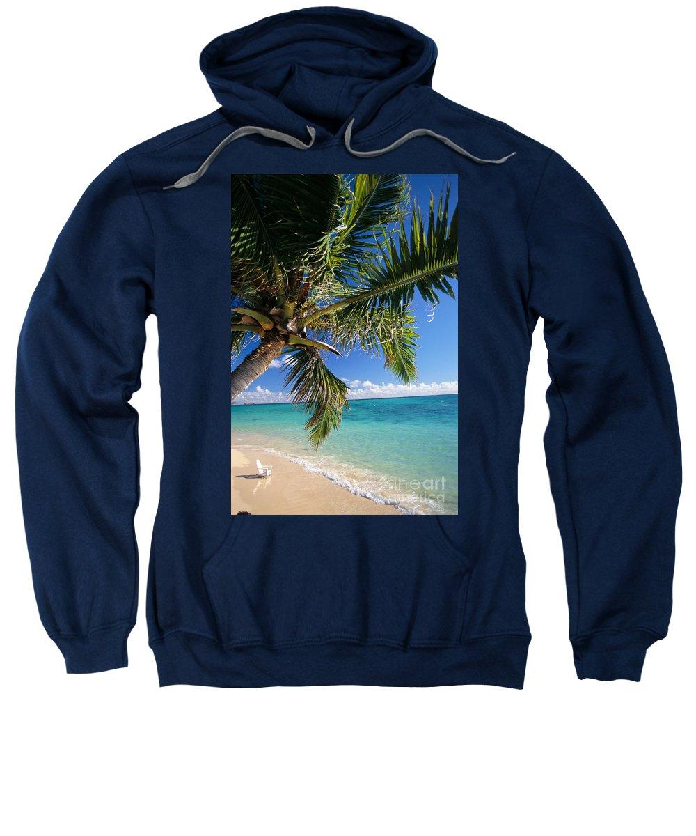 Beach Sweatshirt featuring the photograph Shoreline Waters by Dana Edmunds - Printscapes