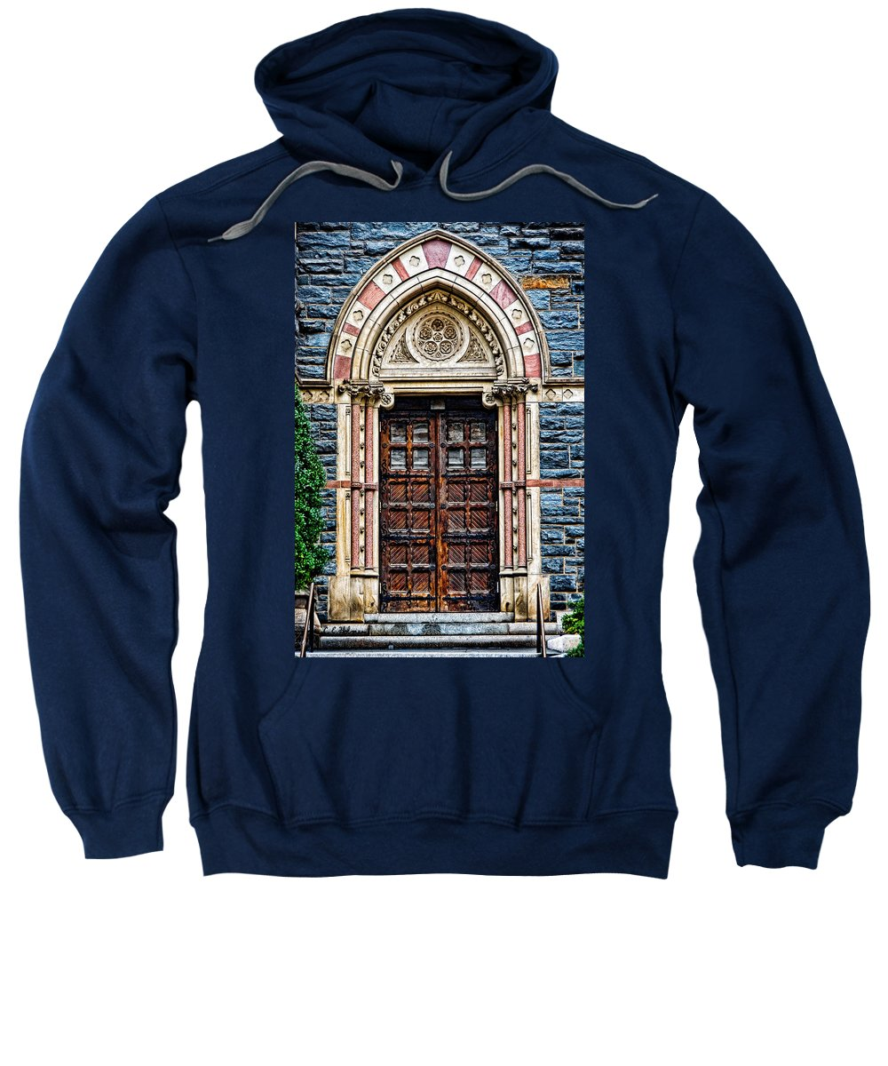 Church Sweatshirt featuring the photograph Side Entrance by Christopher Holmes