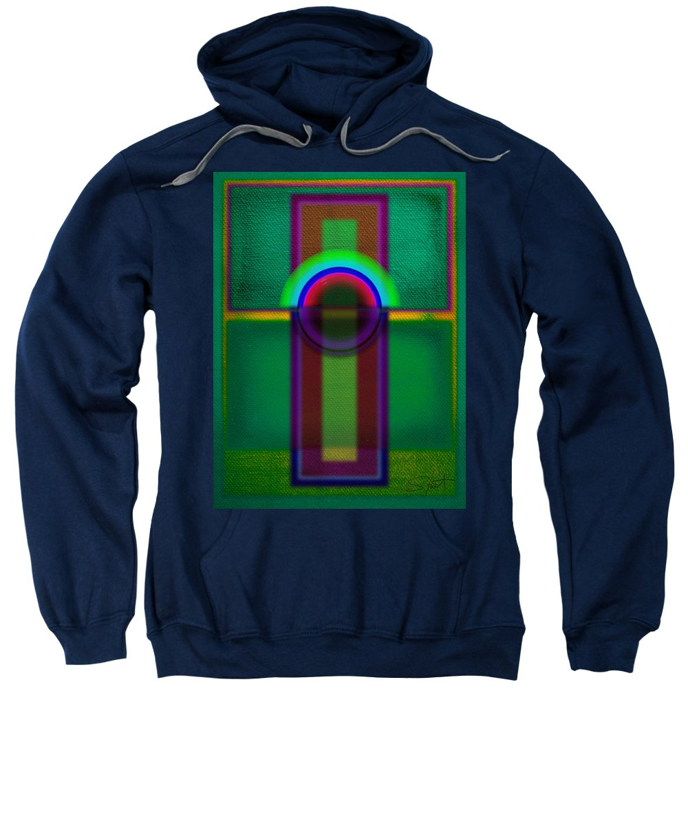 Portal Sweatshirt featuring the painting Sign by Charles Stuart