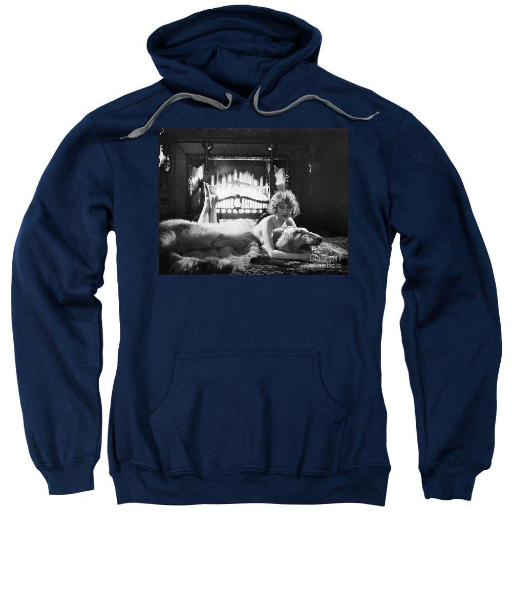 -women Single Figures- Sweatshirt featuring the photograph Silent Film Still: Woman by Granger
