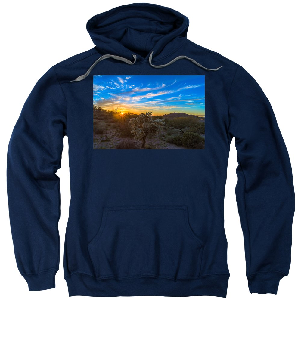 Sunset Sweatshirt featuring the photograph Silly Sunset by Casey Stanford