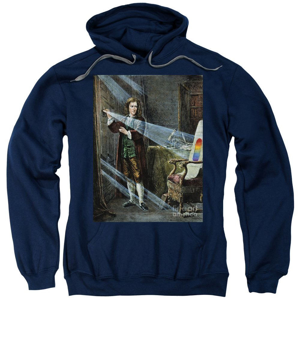 18th Century Sweatshirt featuring the photograph Sir Isaac Newton by Granger