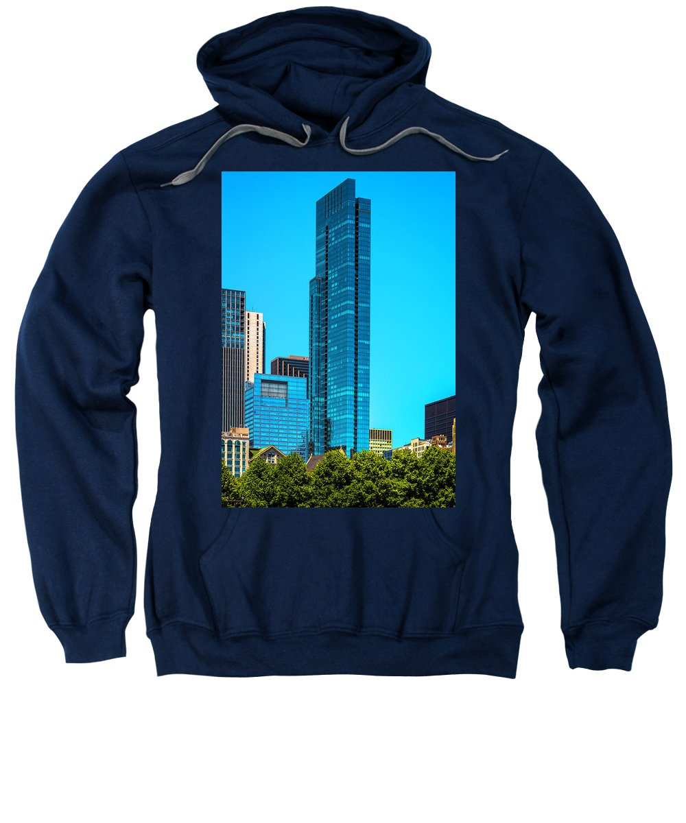 Sweatshirt featuring the photograph Skyline From Grant Park Dsc2417 by Raymond Kunst