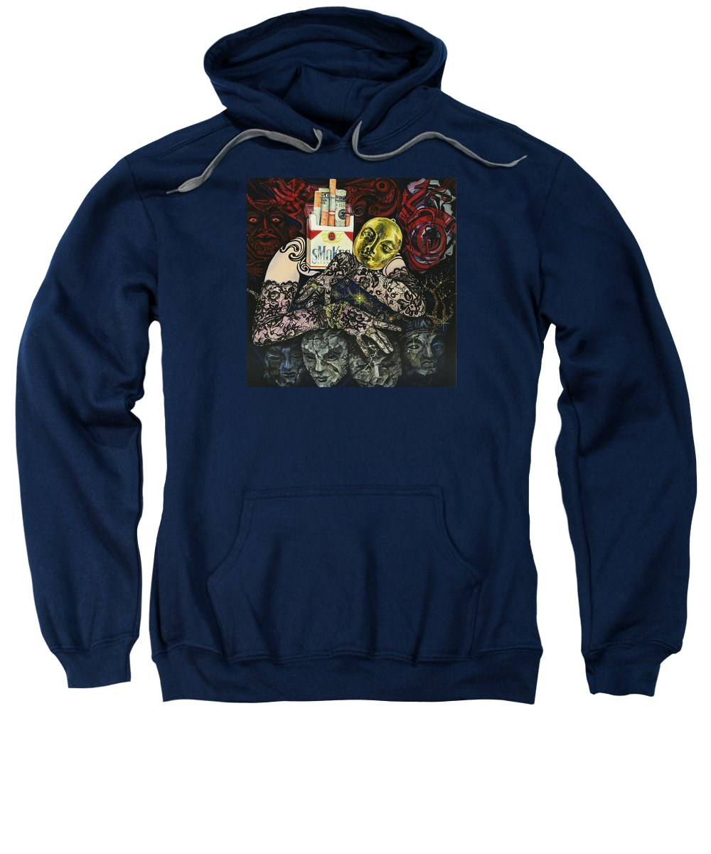 Surreal Sweatshirt featuring the painting Smoke And Lace by Yelena Tylkina