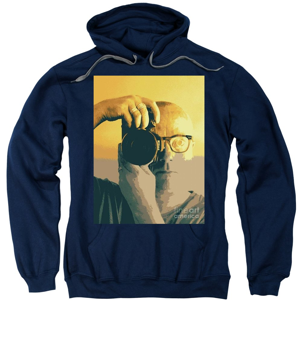 Self Portrait Of A Photographer Sweatshirt featuring the photograph Snapper by Kaiden Stone