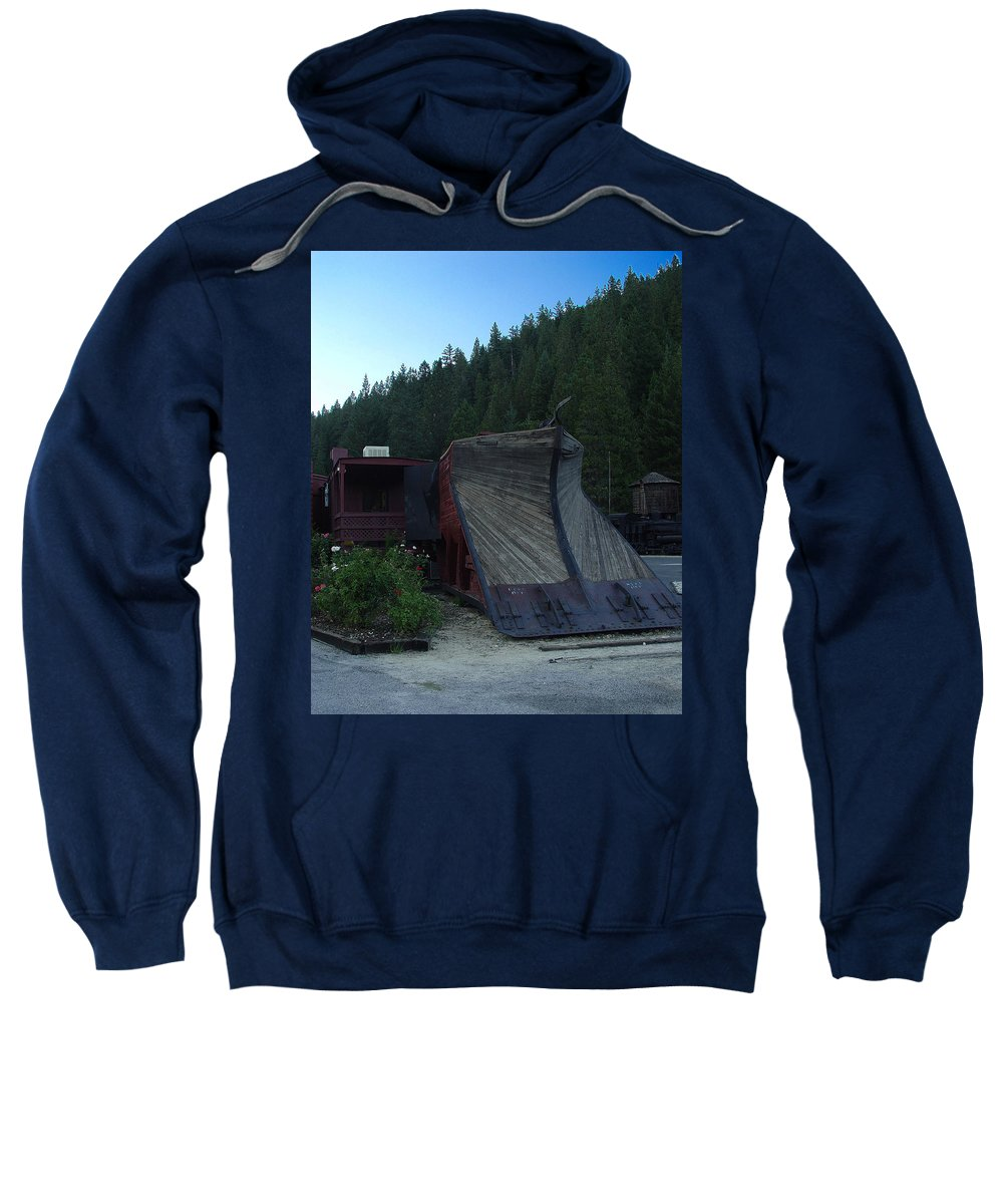 Train Sweatshirt featuring the photograph Snow Plow by Peter Piatt