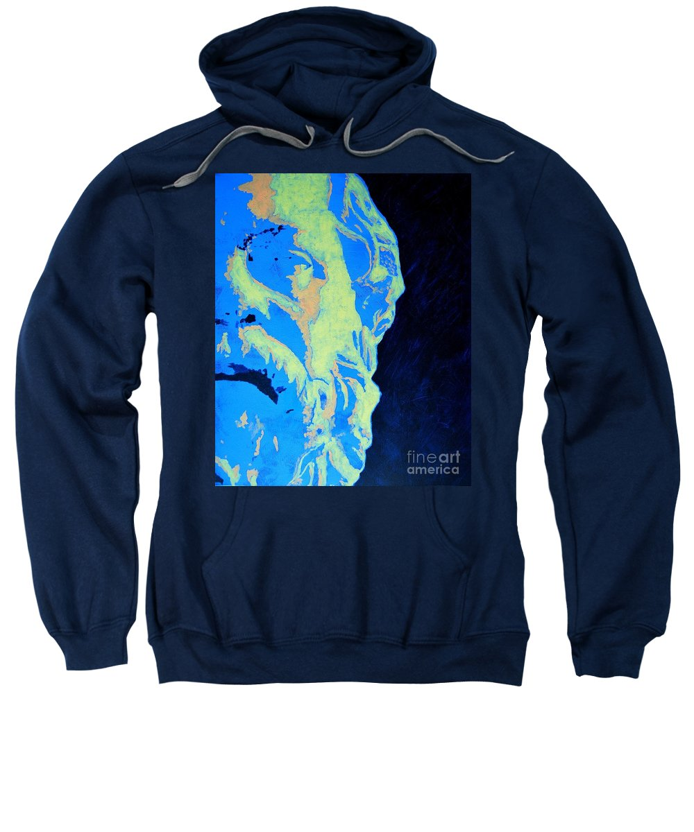 Socrates Sweatshirt featuring the painting Socrates - Ancient Greek Philosopher by Ana Maria Edulescu