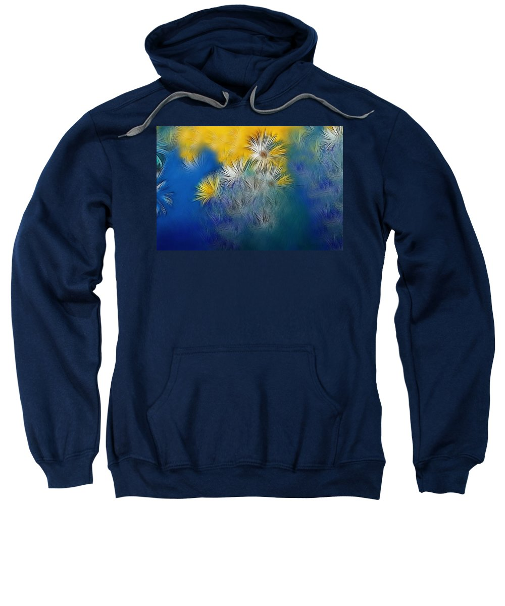 Flower Sweatshirt featuring the photograph Soft-flowers by Manfred Lutzius