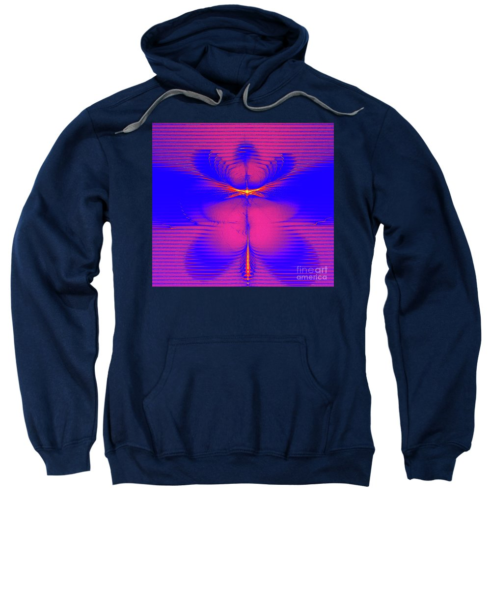 Solar Embrace Sweatshirt featuring the digital art Solar Embrace by Ray Shrewsberry