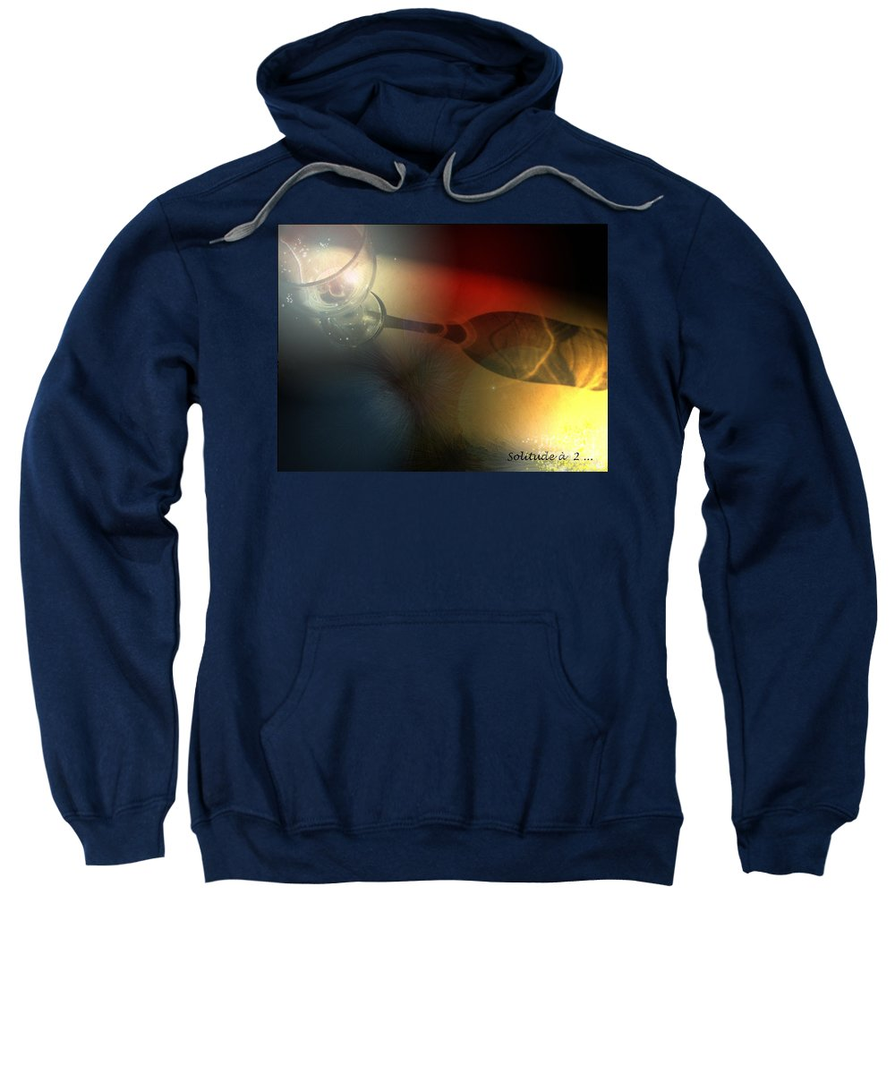 Fantasy Sweatshirt featuring the photograph Solitude A Deux by Miki De Goodaboom