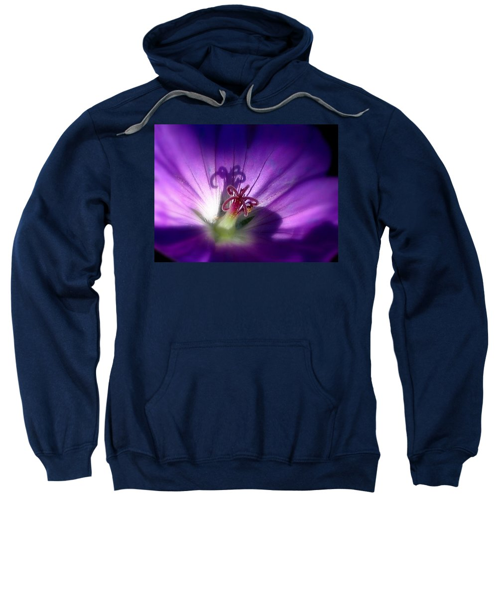 Floral Sweatshirt featuring the photograph Something Blue by Marla McFall