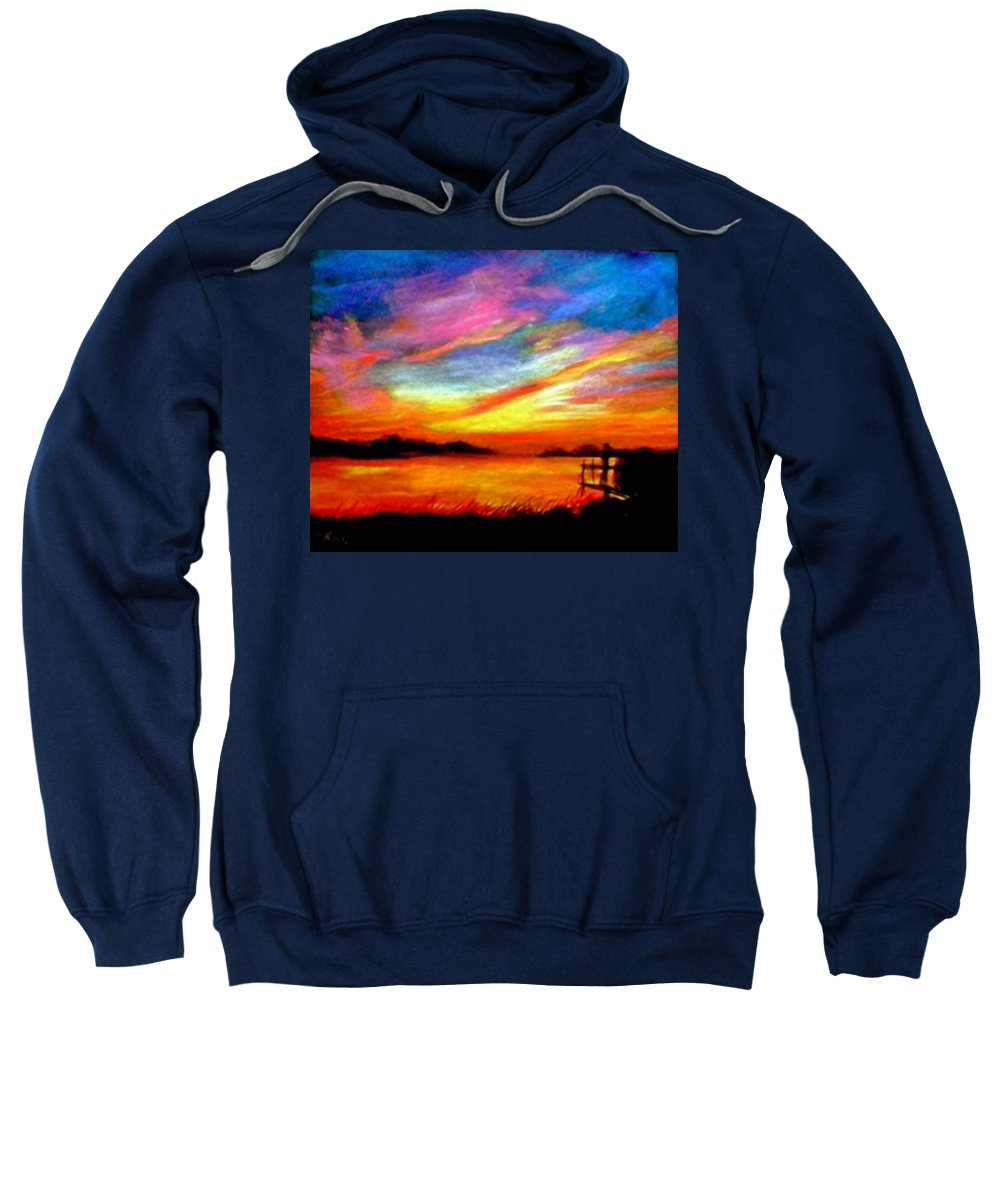 Sunset Sweatshirt featuring the painting Southern Sunset by Gail Kirtz
