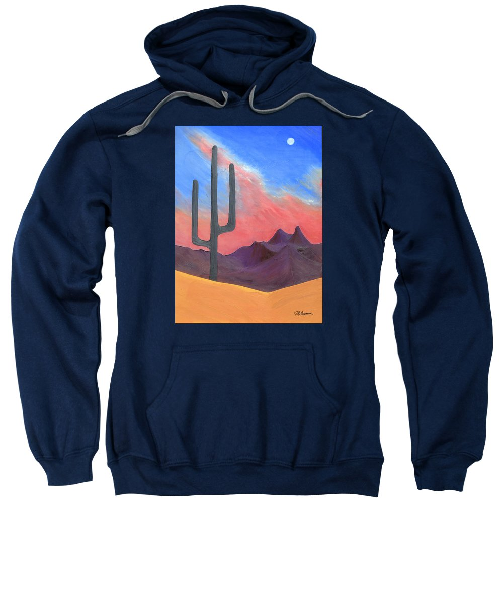 Cactus Sweatshirt featuring the painting Southwest Scene by J R Seymour