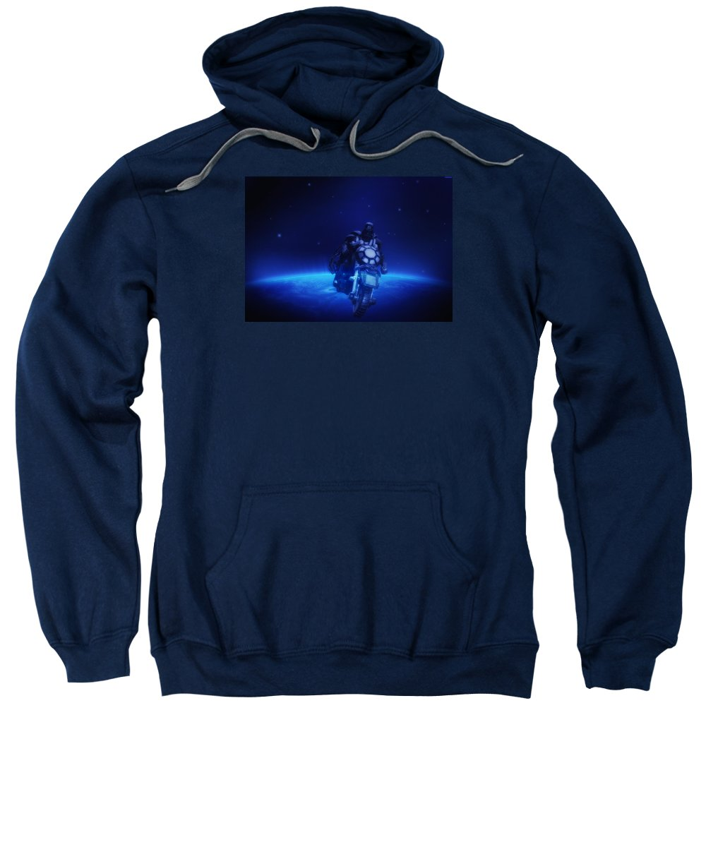 Darth Sweatshirt featuring the photograph Space Cowboy by Bill Cannon
