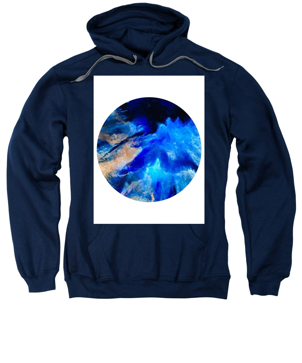 Space Sweatshirt featuring the painting Space by Susan Fuss