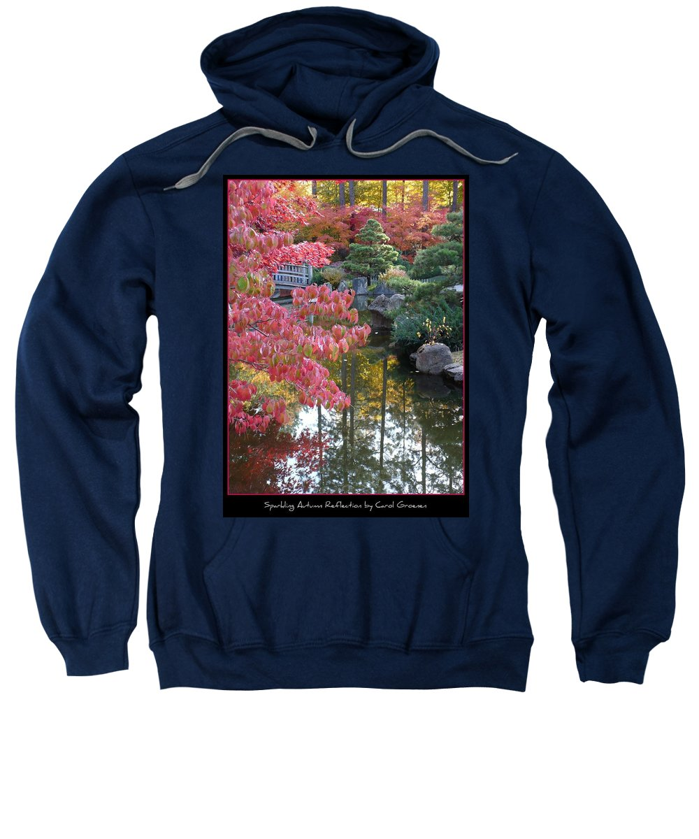 Fall Sweatshirt featuring the photograph Sparkling Autumn Reflection by Carol Groenen