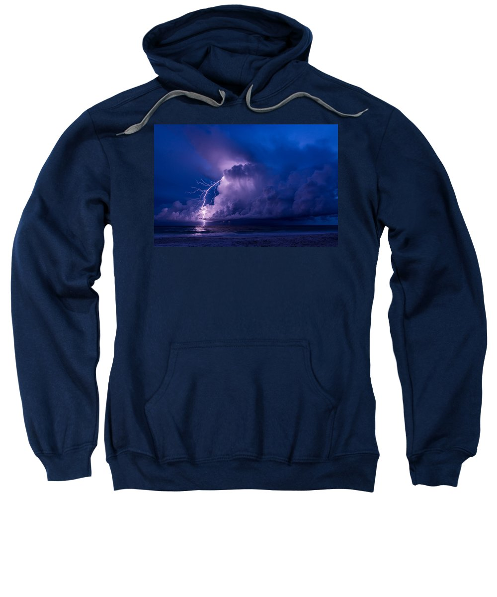Lighting Sweatshirt featuring the photograph Sparks by Mark Hazelton