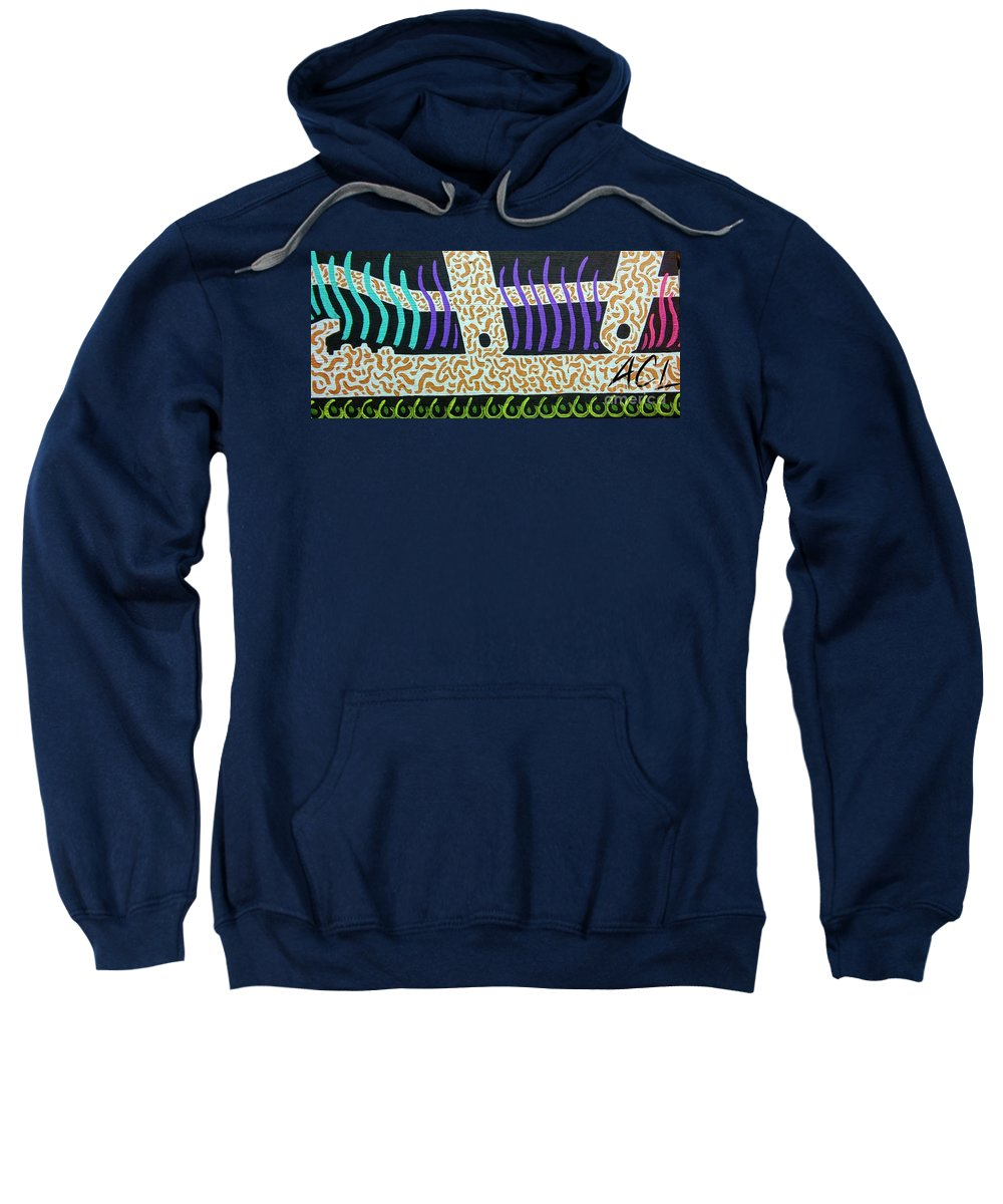 Abstract Sweatshirt featuring the painting Spineless by Alexander Ladd