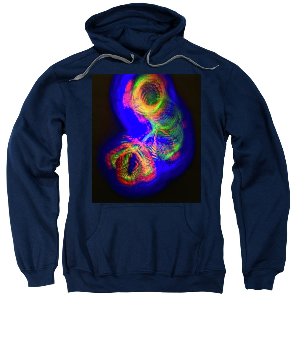 Photo Impression Sweatshirt featuring the photograph Spinning Color Lights by Blair Seitz