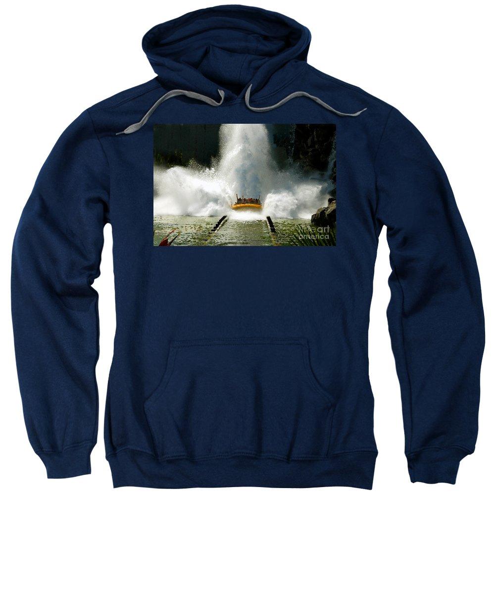 Universal Studios Sweatshirt featuring the photograph Splash Down by David Lee Thompson