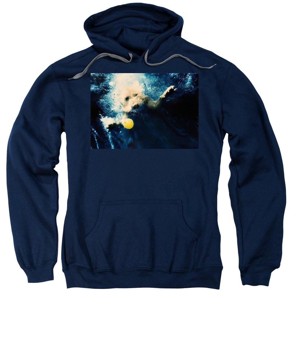 Dog Sweatshirt featuring the photograph Splashdown by Jill Reger