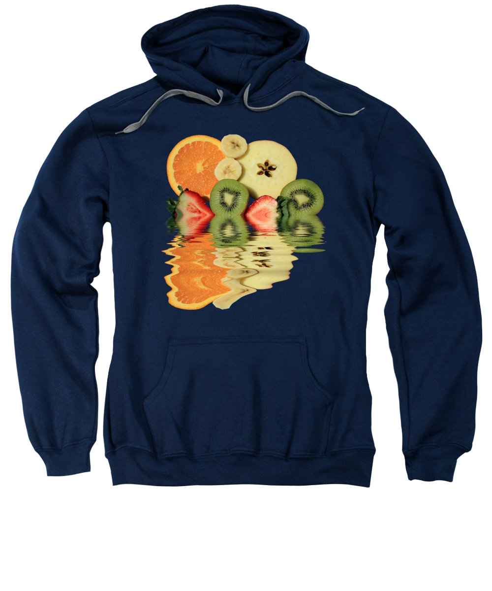 Fruit Sweatshirt featuring the photograph Split Reflections by Shane Bechler
