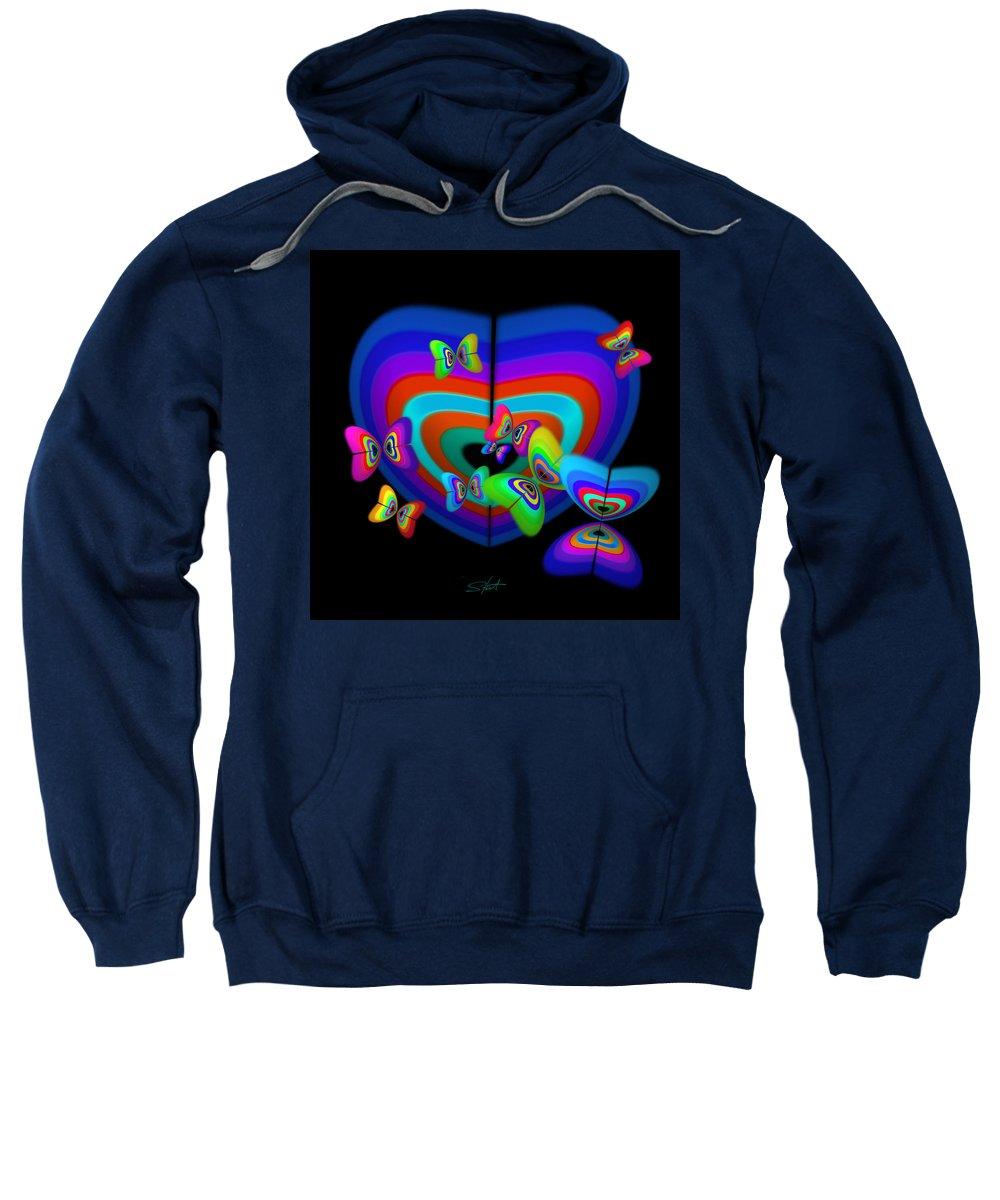 Sweatshirt featuring the digital art Spring by Charles Stuart