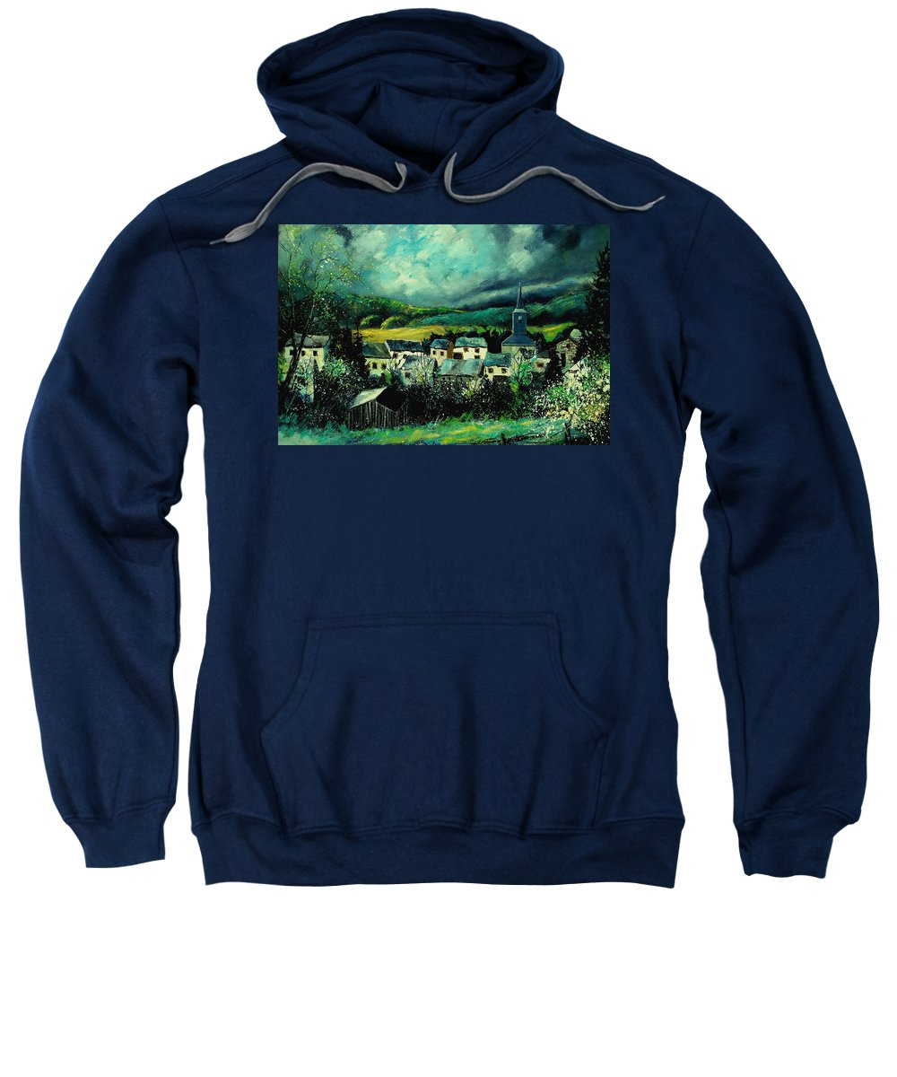 Tree Sweatshirt featuring the painting Spring In Daverdisse by Pol Ledent