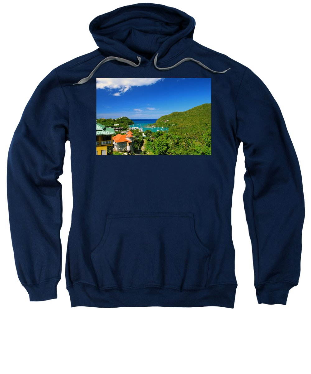 St. Lucia Sweatshirt featuring the photograph St. Lucia by Gary Wonning