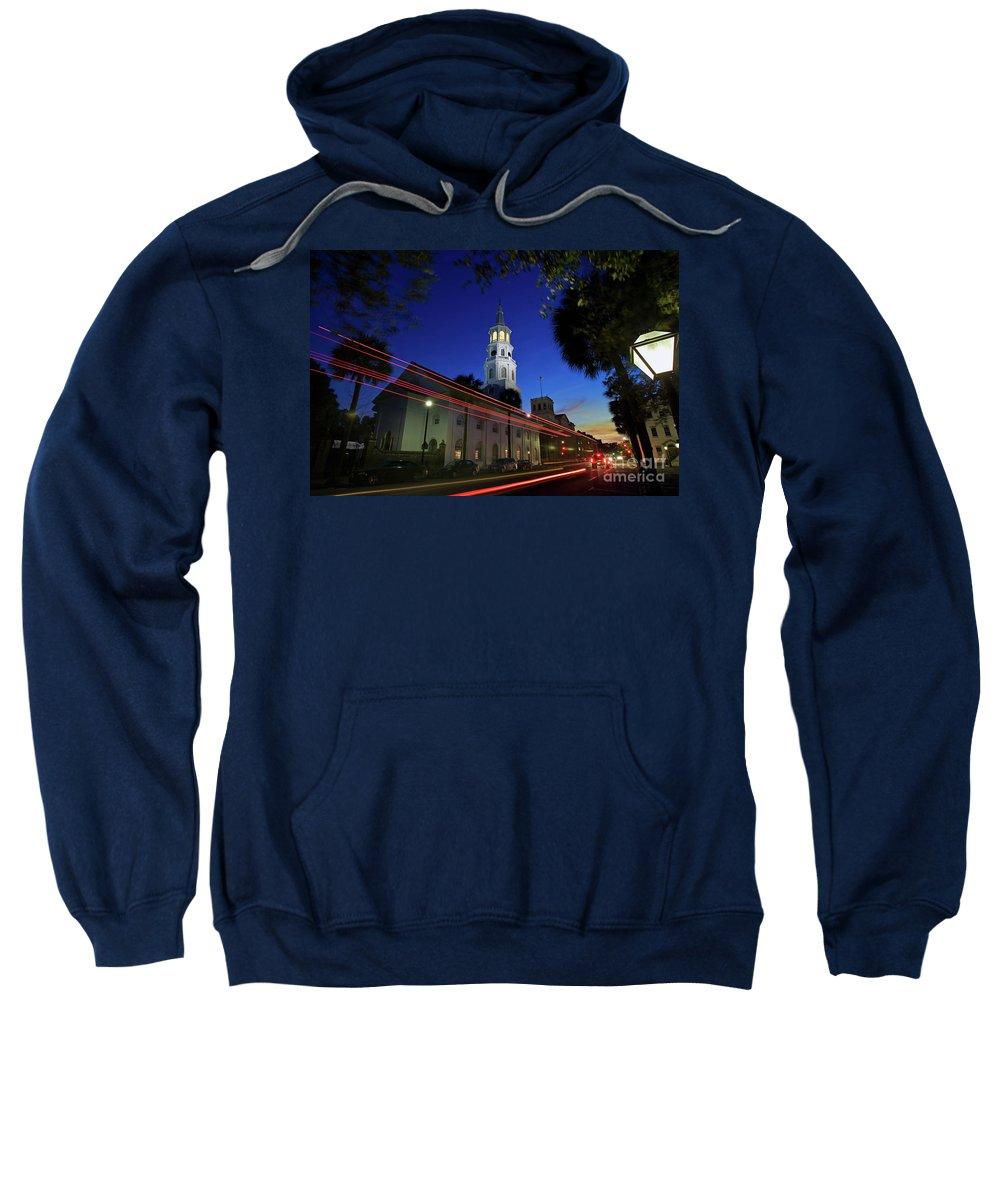 Charleston Sweatshirt featuring the photograph St. Michael's Episcopal Church In Charleston, South Carolina by Sam Antonio Photography